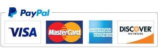 Payment American Express, VISA, MasterCard, and Discover