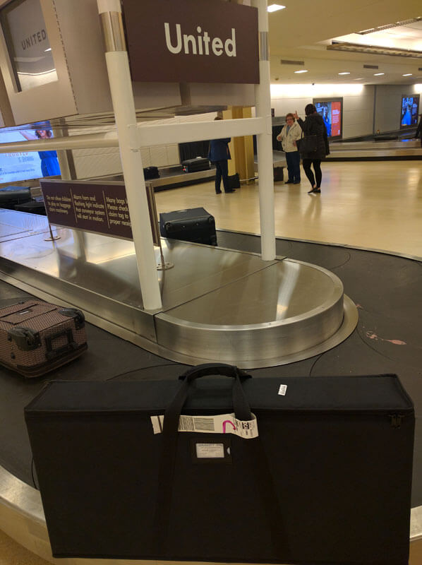 Airline Checkable Luggage Case for the Traveler Low Angle Inversion Table